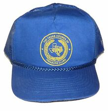 Vtg Texas Metal Detecting Club Snapback Hat Cap Old Man Costume