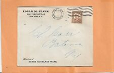 EDGAR M CLARK BUYER OF INFANT'S WEAR 1935 GRAND CENT VINTAGE ADVERTISING COVER +