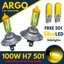 2x H7 Xenon Jaune Phare Ampoules 499 100w Phare LED 501 Clignotant Voiture 12v