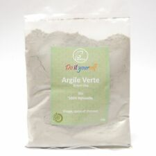 Argile Verte en poudre Bio 100g, Pure et Naturelle, Peaux Grasses