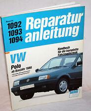 VW POLO ab Baujahr 1988 - REPARATURANLEITUNG