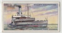 Double Ended Paddle Wheeler Ferry Steamer 85+ Y/O Trade Ad Card