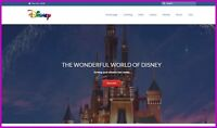 WALT DISNEY Website|Upto $367.20 A SALE|FREE Domain|FREE Hosting|FREE Traffic