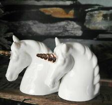 Pfeffer Salzstreuer Einhorn Weiß Gold Porzellan Set Pfefferstreuer Unicorn Salz