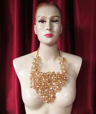 Da NeeNa J748 Blooming Flower Pageant Showgirl Cabaret Vegas Stage Necklace