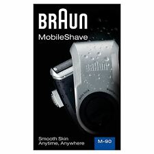 Braun MobileShave M-90 Mens Portable Electric Foil Shaver Travel Battery Razor