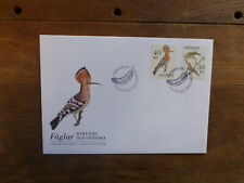 SWEDEN 2016 BIRDS SET 2 STAMPS FDC FIRST DAY COVER