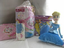 NEW DISNEY PRINCESS DREAMS IN BLOOM 11 PC TWIN BEDDING SET PILLOW WALL ART DECAL