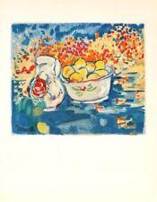 Maurice de Vlaminck Lithograph Limited Still Life With Lemons Mourlot 1958 Rare