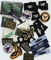 Nice  HUGE lot  - US Navy & USMC  patches, & Ranks.