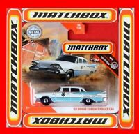 MATCHBOX 2020   ´59 DODGE CORONET  POLICE CAR   94 /100   NEU&OVP