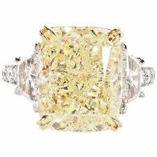 GIA certified Fancy Yellow 10.17 ct Fancy Diamond Ring 1.55 carat platinum 18 k