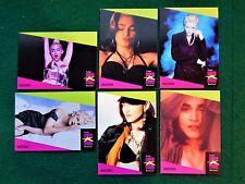 6  Madonna  1991 Pro Set Music Cards   #78, 79, 80, 81, 82, 83  Near Mint