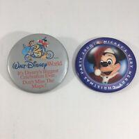 Disney Pins Disney World 25th Anniversary Mickey Santa Lot of 2