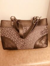 ladies hand bag by t hilfiger, pewter color