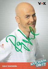 Autogrammkarte Ralf Zacherl - TV - Koch