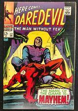 DAREDEVIL #36 1968 SWEET VF DAREDEVIL VS TRAPSTER,FANTASTIC FOUR,DR.DOOM.WOW