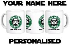 STAR WARS Coffee Personalised Starbucks Theme Gift Mug Cup New Text Name Gift