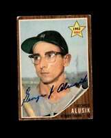 George Alusik Hand Signed 1962 Topps Detroit Tigers Autograph
