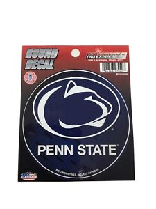 """Lot Of 6 Penn State University Nitty Lions College Round Decal Sticker 4.5"""" New"""