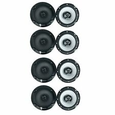 Kenwood 300 Watt 6.5-Inch Coaxial 2 Way Car Audio Speaker (1 Pair) (4 Pack)