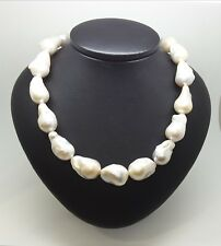 Miran 170498 Blue Sheen Freshwater Keshi Pearl Necklace 11mm-15mm 60cm RRP$750