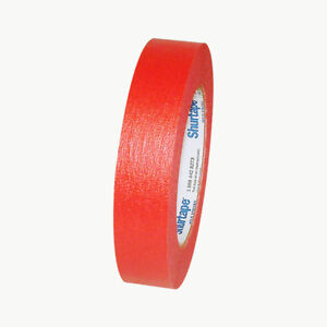 Shurtape CP-631 Colored Masking Tape: 1 in. x 60 yds. (Red)