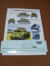 IDF Decals Markings for M51 Sherman 1:16 Scale RC Tank (set 2)