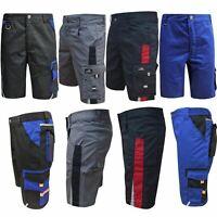 Mens Hard Wearing High Quality Work Shorts Cargo Pockets Adjustable Builder New