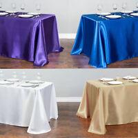 Rectangular Satin Tablecloth Wedding Table Cover Cloth Banquet Party Decoration