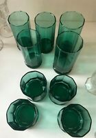 Anchor Hocking Essex - Green (Teal) 12 oz Flat Tumbler & Double Old Fashioned