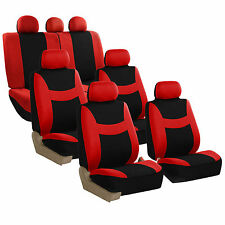 Light & Breezy Flat Cloth 3 Row Seat Covers for Van Truck SUV with Air freshener