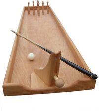 Tischkegelbahn Tischspiel Kegelspiel Billard Holzspiel Gesellschaftsspiel