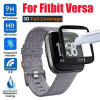 Full Coverage Edge Tempered Glass Screen Protector Cover for Fitbit Versa Watch