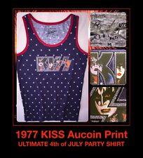 vTg 70's 1977 KISS Love Gun Destroyer Alive Rock print on UNUSED new T-Shirt Med