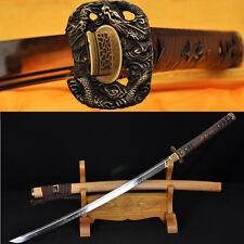 LEATHER ITO CLAY TEMPERED BLADE JAPANESE SAMURAI DRAGON SWORD KATANA CAN CUTTree