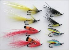 8 Salmon Flies, Double Hook Pack, 4 Varieties,  Size 10 - UK FREE DELIVERY