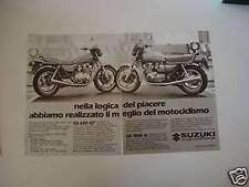 advertising Pubblicità 1982 SUZUKI GS 650 GT e 1000 G