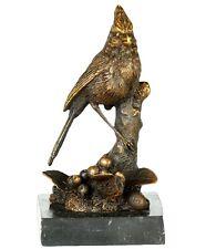 Bronzo Figura Scultura uccelli