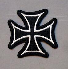 iron cross patch badge motorcycle biker hot rod drag race vest jacket MC