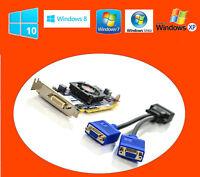 DELL Windows 10 Dual Monitor 512MB SFF PCI-E 16 Video Card 60 DAY WARANTY +BONUS