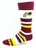 Washington Redskins For Bare Feet Women and Youth Soft Stripe Crew-Length Socks