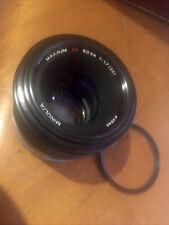 Mint- Minolta Maxxum AF 50mm F1.7 Prime Lens - Minolta Sony Alpha A Mount W CAPS