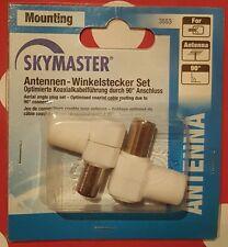 Skymaster Antennen - Winkelstecker Set 90 Grad - neu & ovp