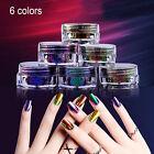 6colors Chameleon Nail Mirror Powder Manicure Nail Art Glitter Chrome Pigment