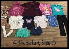 Girls Clothing Lot, 14 Items, Size 5, Coat, Tops, Pants, DKNY, DIsney, Gymboree