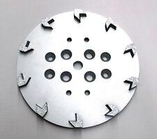 "10"" Pro Concrete Grinding Head Disc Plate for Edco Floor Grinder- 10 Arrow Segs"