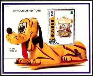 DISNEY - Guyana - 1996 ANTIQUE TOYS - Pluto Wind-up Miniature Sheet MNH [B4196]