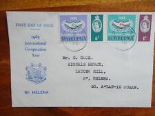 First Day Cover International Co-operation year ST.HELENA 1965