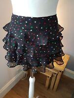 TOPSHOP - Pretty Chiffon Ladies Mini Skirt - Size 10